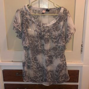 Sheer blouse for over a cami